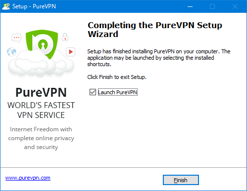 PureVPNアプリインストール完了
