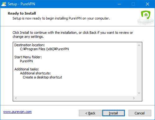 PureVPNアプリインストール インストール確認