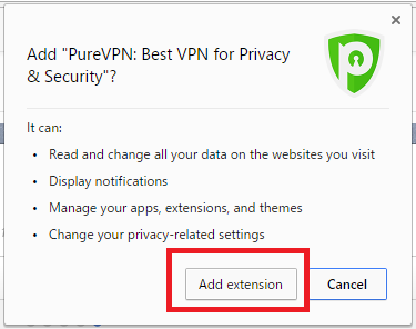 PureVPN エクステンション追加