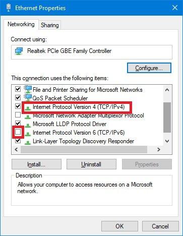Windows IPv4設定画面