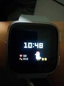 Fitbit Versa本体ホーム画面