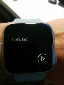 Fitbit Versa水泳開始画面