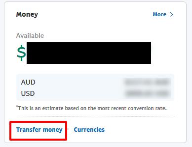 Paypalから出金する