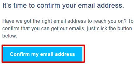 TransferWiseアカウント登録メールアドレス確認